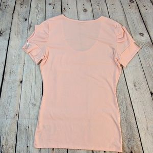 Guess Tops - Guess Adria Cold Shoulder Just Peachy Top